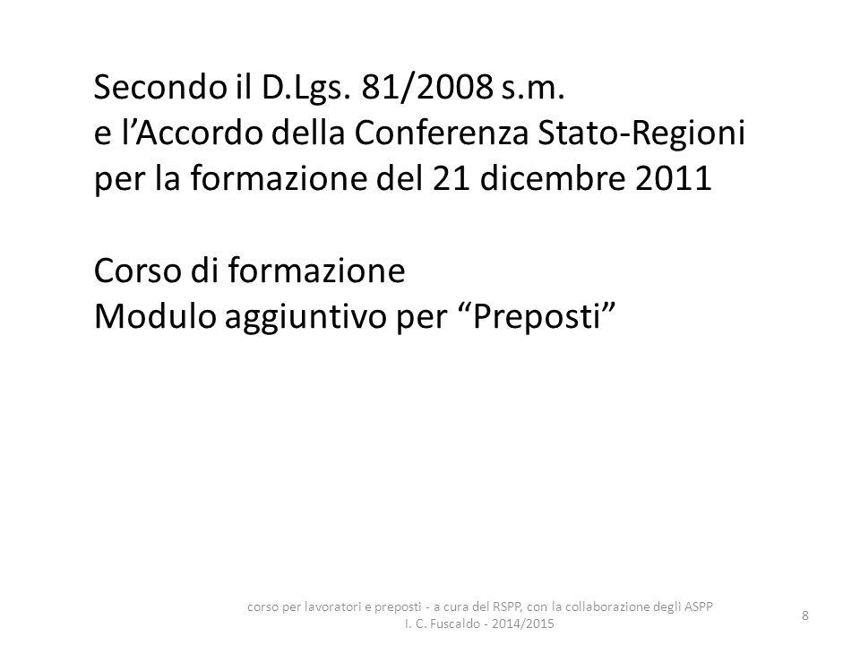 e l'Accordo della Conferenza Stato-Regioni