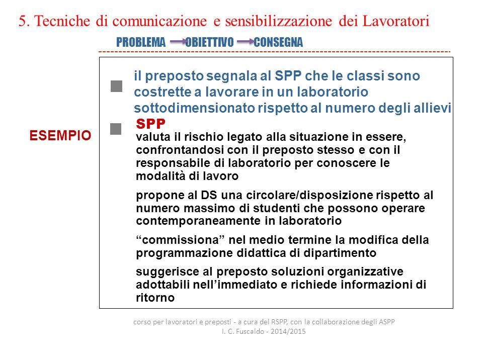 5. Tecniche di comunicazione e sensibilizzazione dei Lavoratori