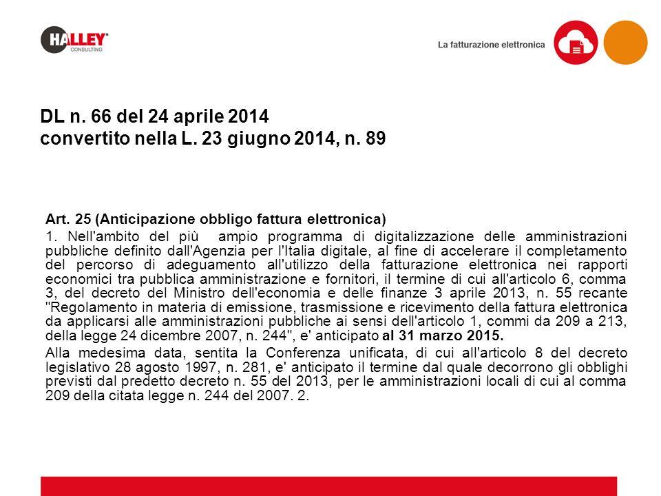 DL n. 66 del 24 aprile 2014 convertito nella L. 23 giugno 2014, n. 89