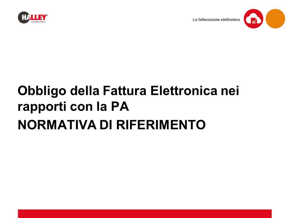 Obbligo della Fattura Elettronica nei rapporti con la PA
