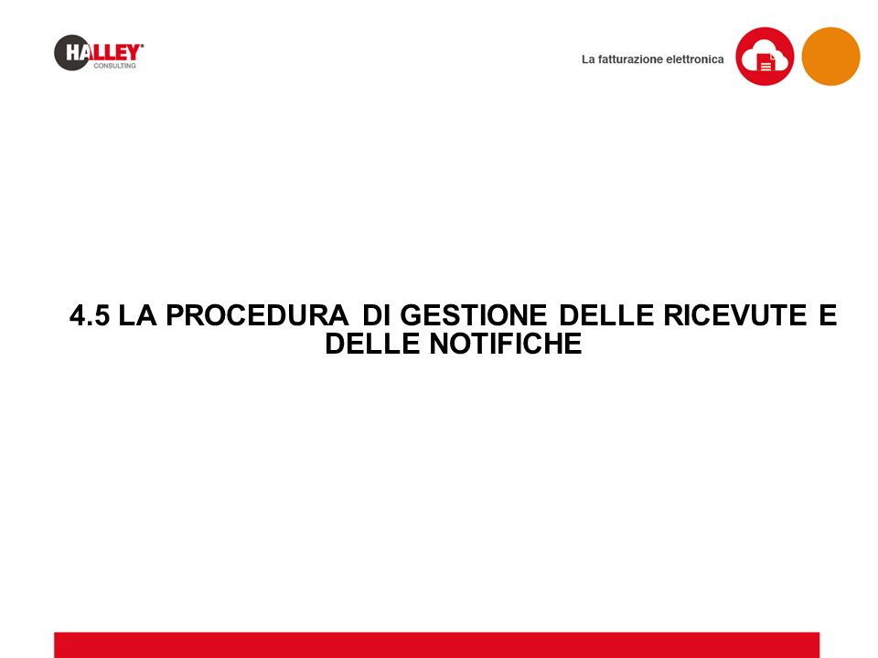 4.5 LA PROCEDURA DI GESTIONE DELLE RICEVUTE E DELLE NOTIFICHE