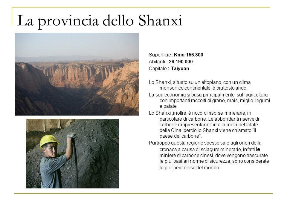 La provincia dello Shanxi