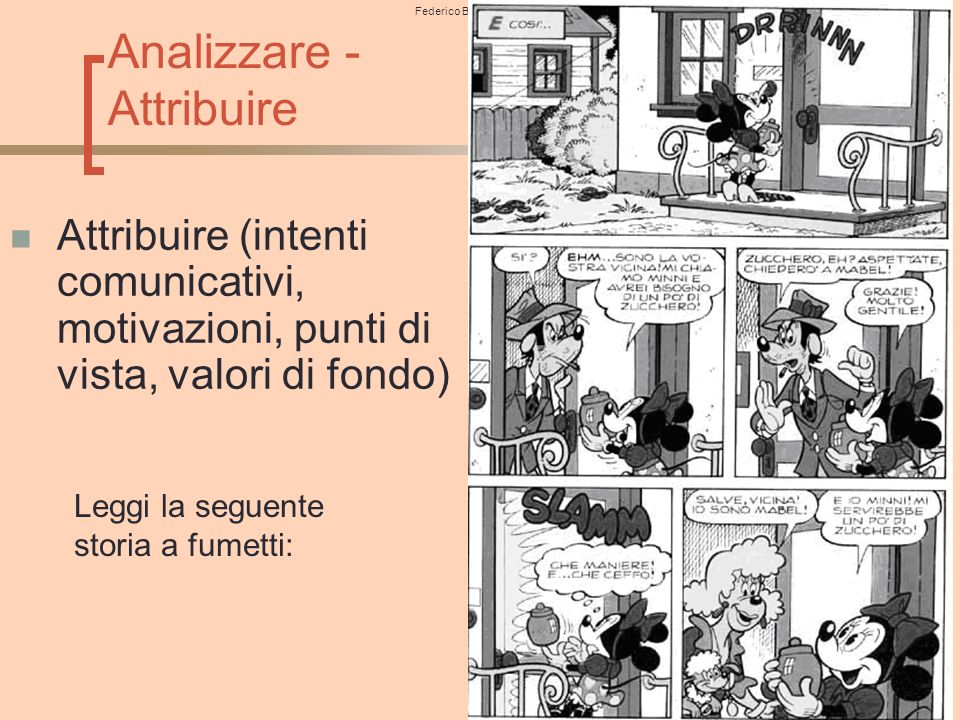 Analizzare - Attribuire