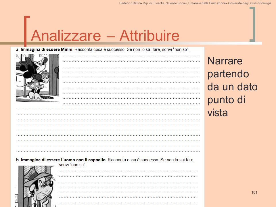 Analizzare – Attribuire