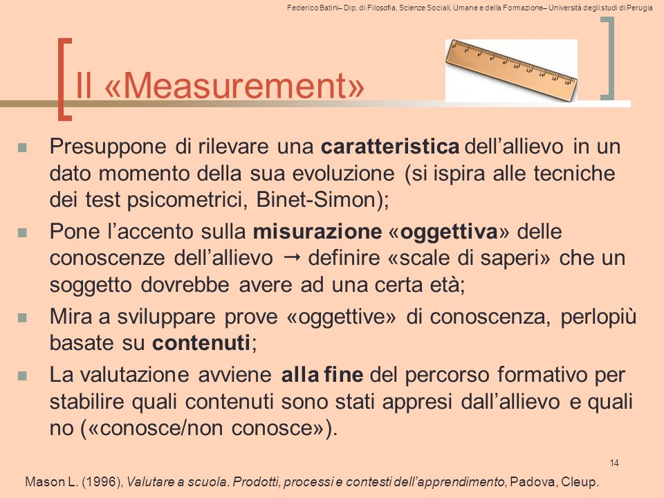 Il «Measurement»