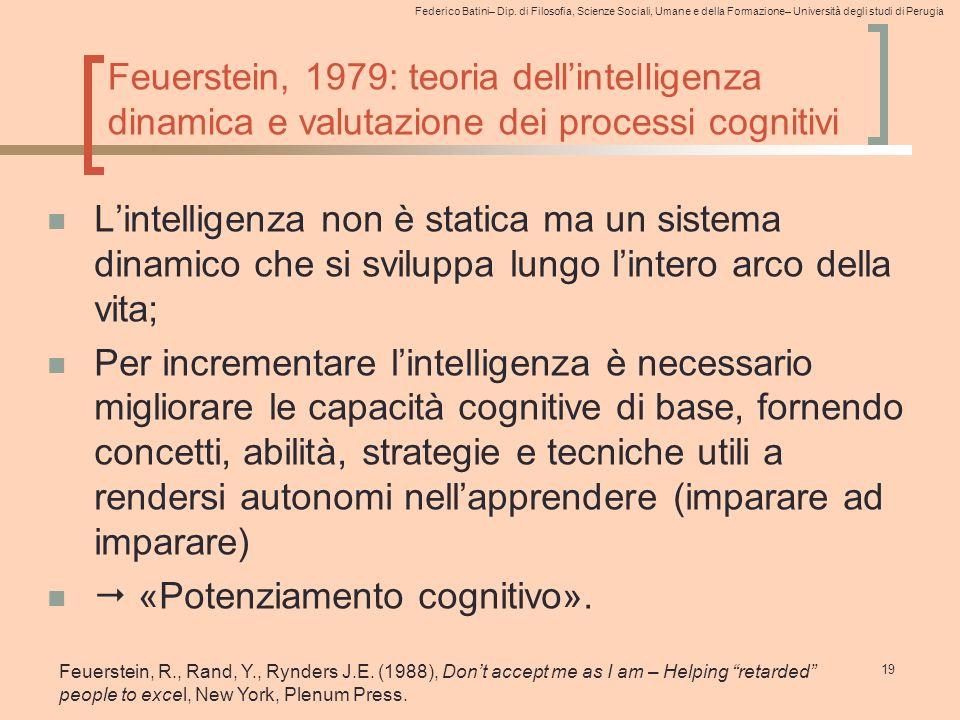  «Potenziamento cognitivo».