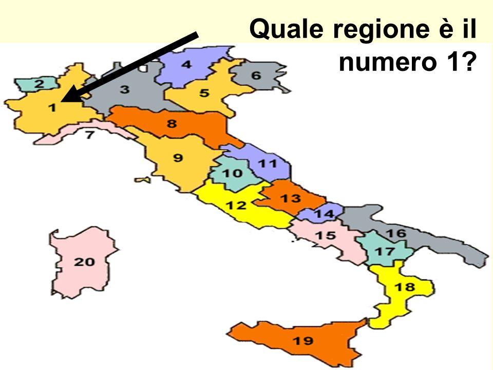 Quale regione è il numero 1