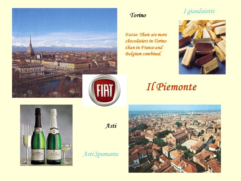 Il Piemonte I gianduiotti Torino Asti Asti Spumante