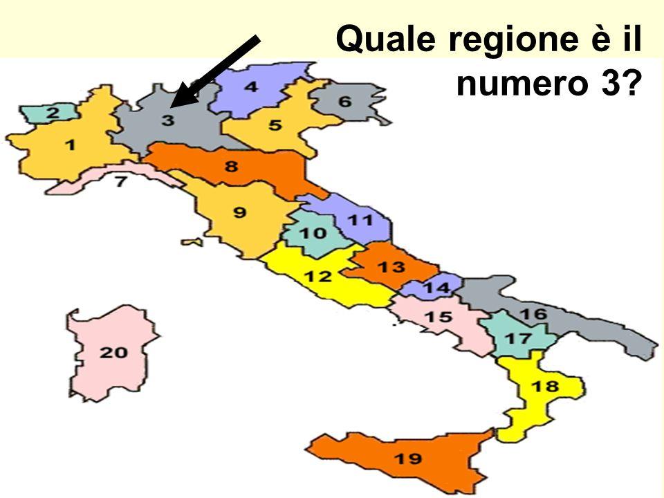 Quale regione è il numero 3