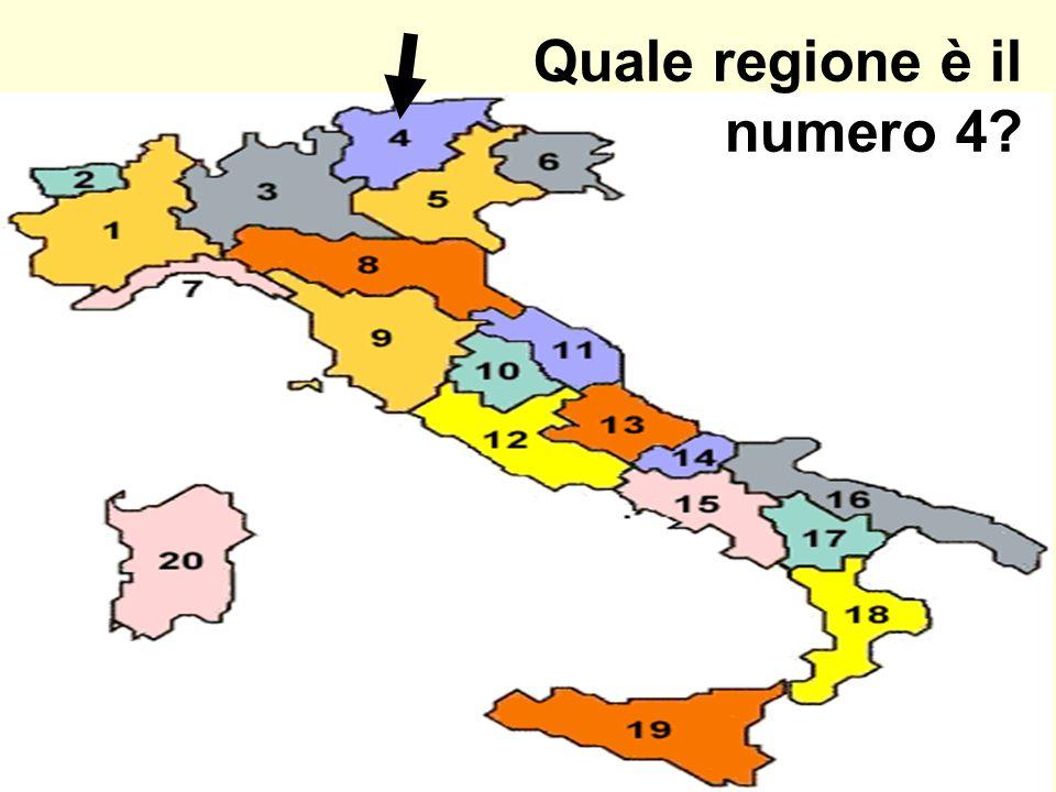 Quale regione è il numero 4