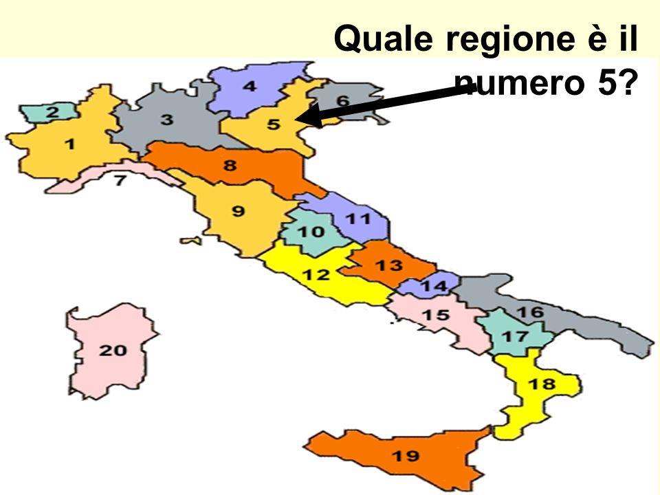 Quale regione è il numero 5