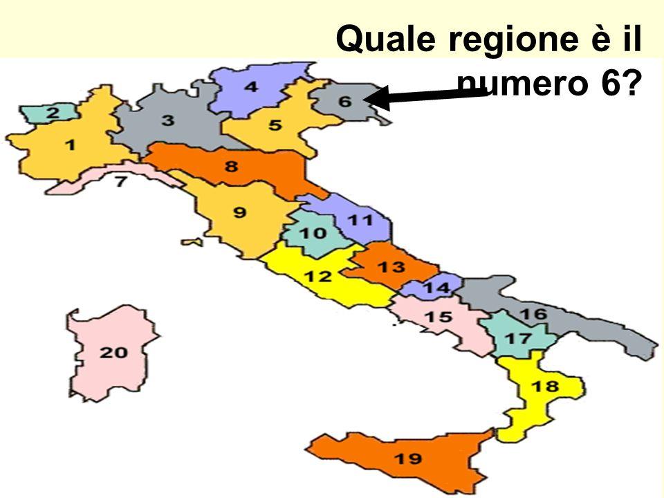 Quale regione è il numero 6