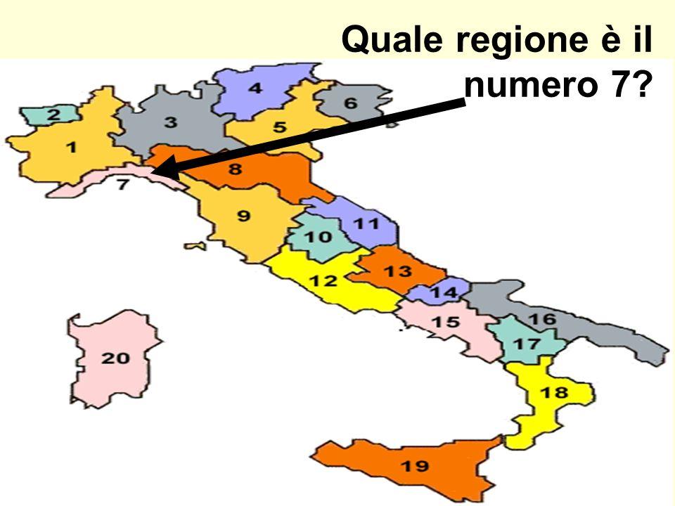 Quale regione è il numero 7
