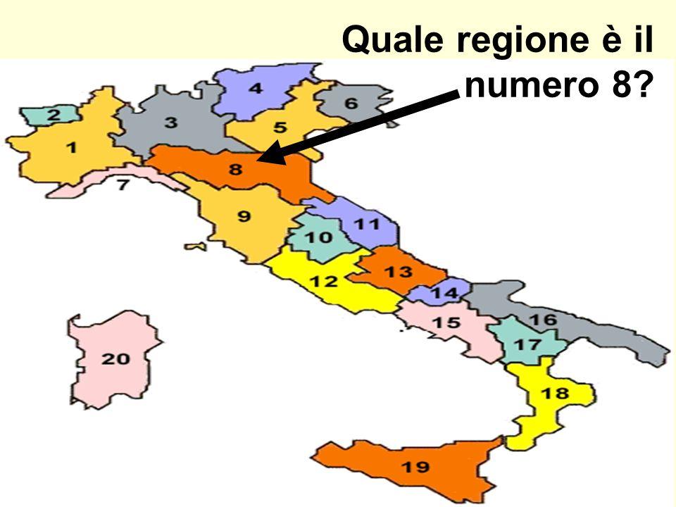 Quale regione è il numero 8