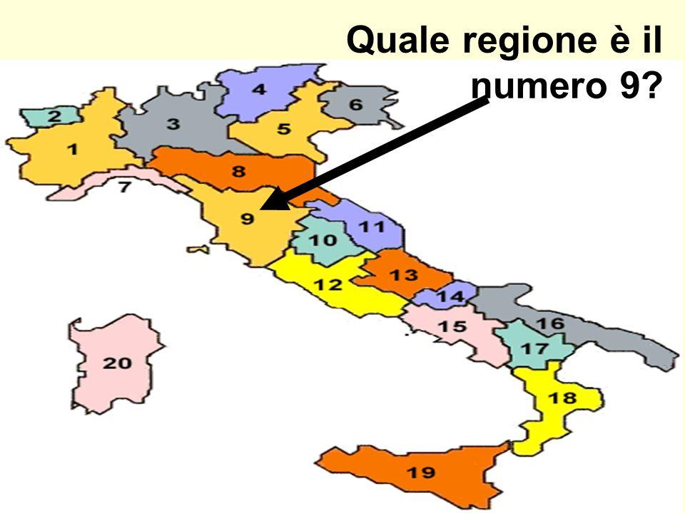 Quale regione è il numero 9