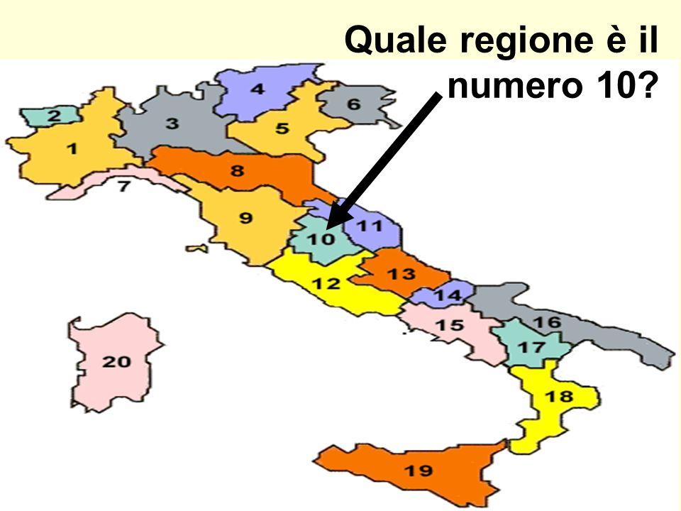 Quale regione è il numero 10