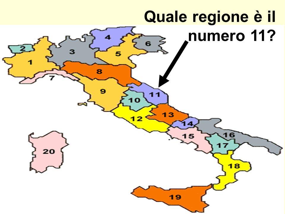 Quale regione è il numero 11