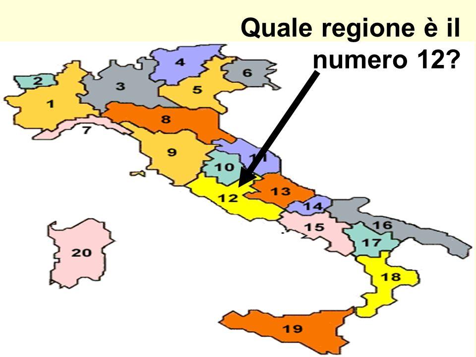 Quale regione è il numero 12