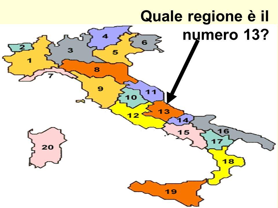 Quale regione è il numero 13