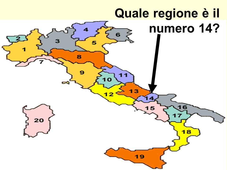 Quale regione è il numero 14