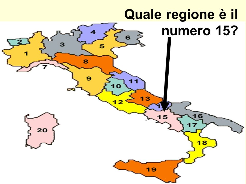 Quale regione è il numero 15