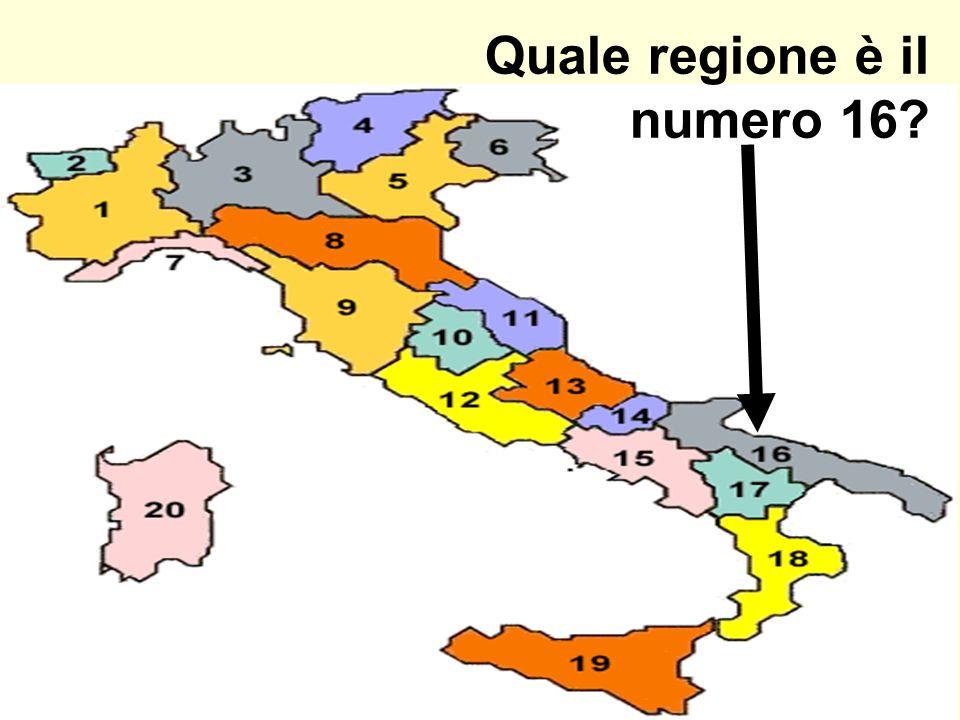 Quale regione è il numero 16