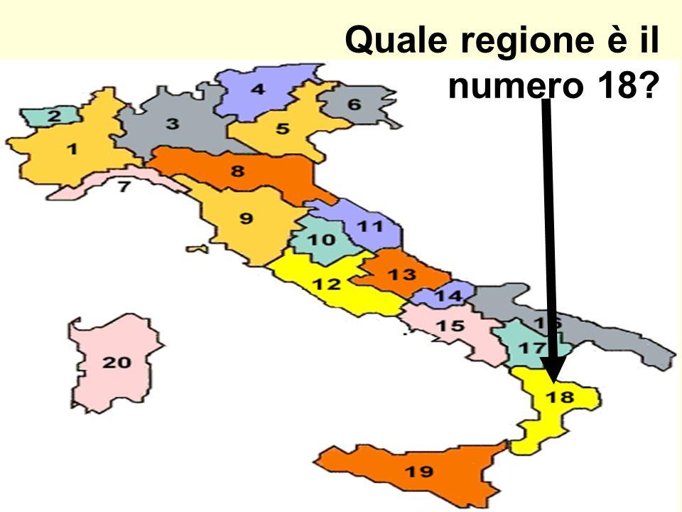 Quale regione è il numero 18
