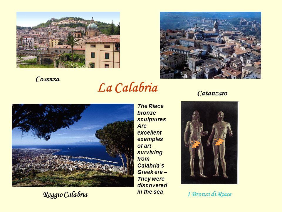 La Calabria Cosenza Catanzaro Reggio Calabria I Bronzi di Riace