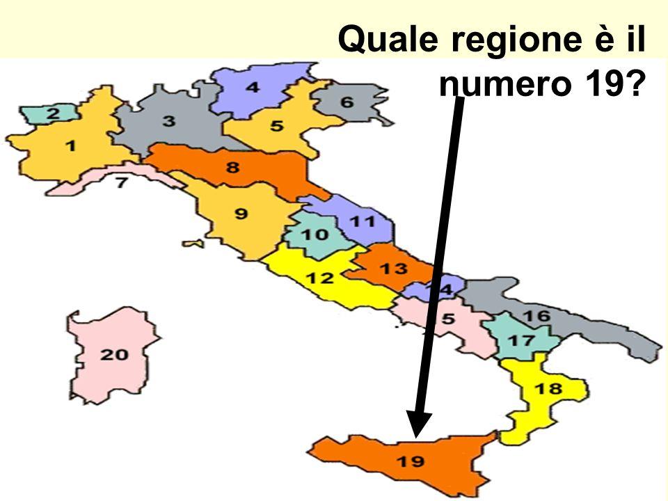 Quale regione è il numero 19