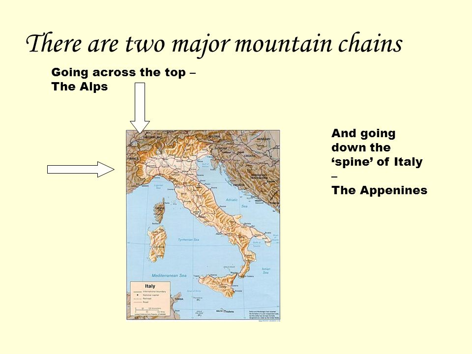 There are two major mountain chains