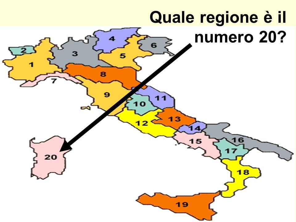 Quale regione è il numero 20
