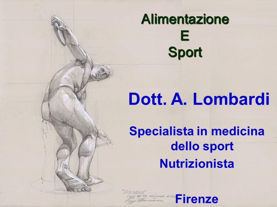 Specialista in medicina dello sport
