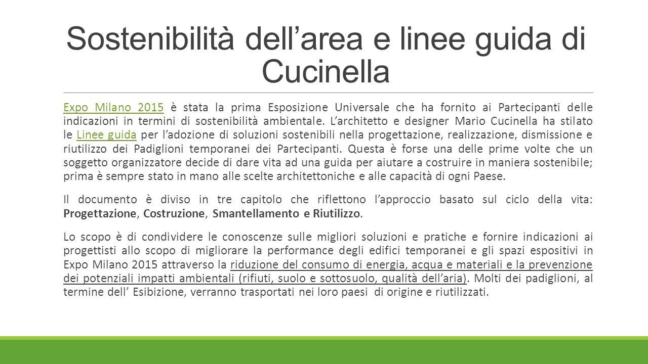 Sostenibilità dell'area e linee guida di Cucinella