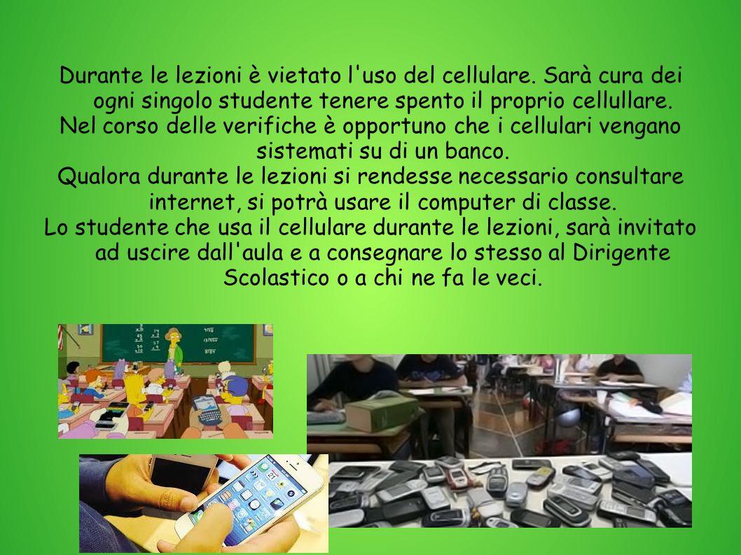Durante le lezioni è vietato l uso del cellulare