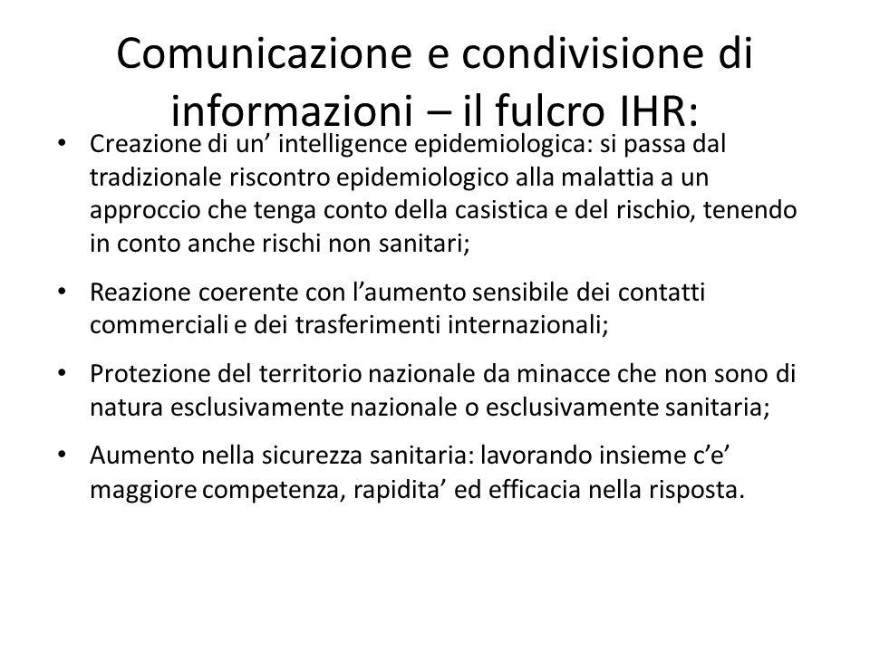 Comunicazione e condivisione di informazioni – il fulcro IHR: