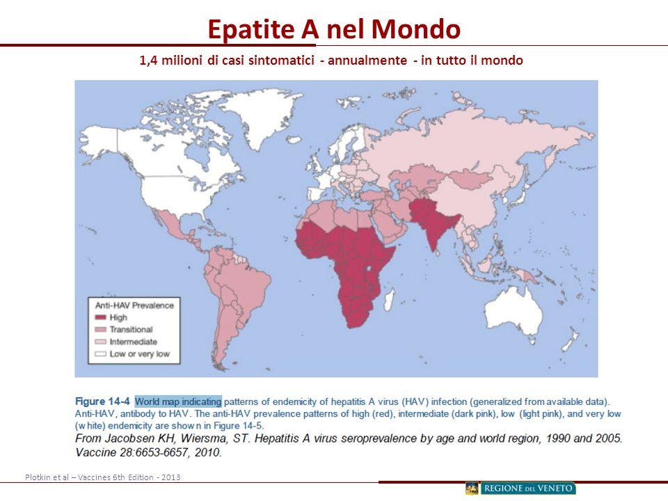 1,4 milioni di casi sintomatici - annualmente - in tutto il mondo
