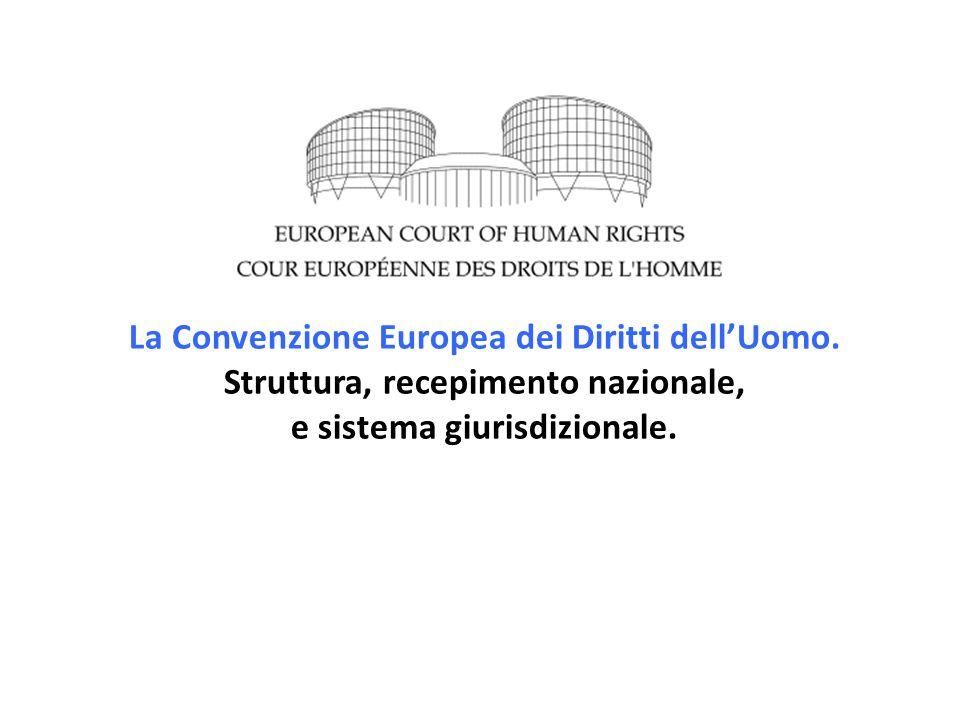 La Convenzione Europea dei Diritti dell'Uomo.