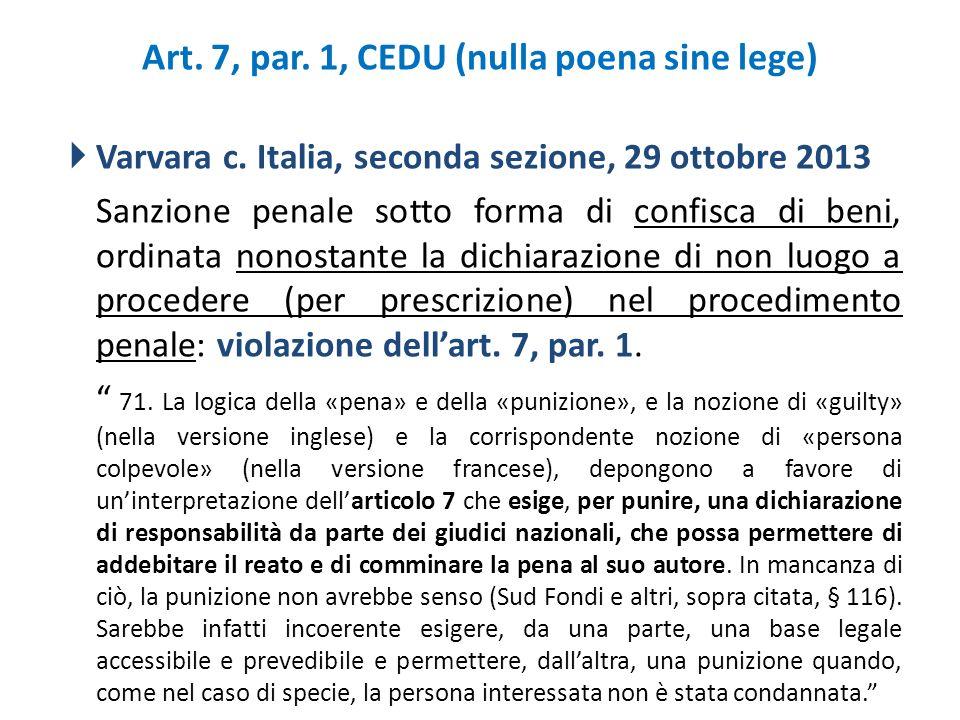 Art. 7, par. 1, CEDU (nulla poena sine lege)