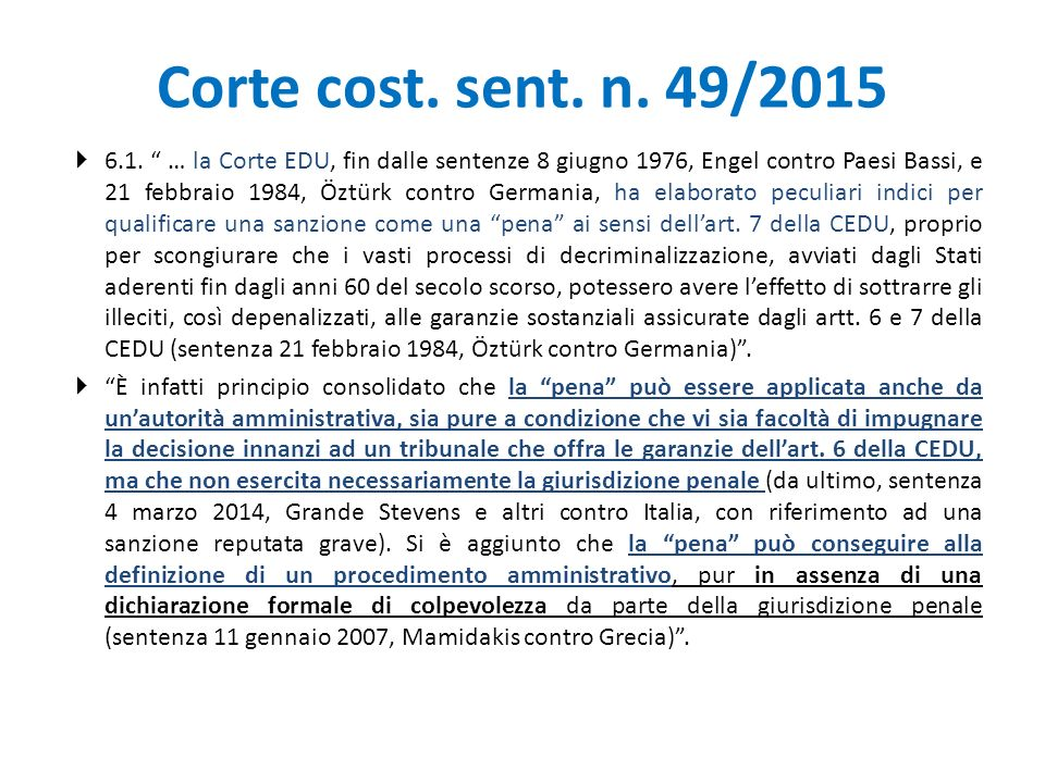 Corte cost. sent. n. 49/2015