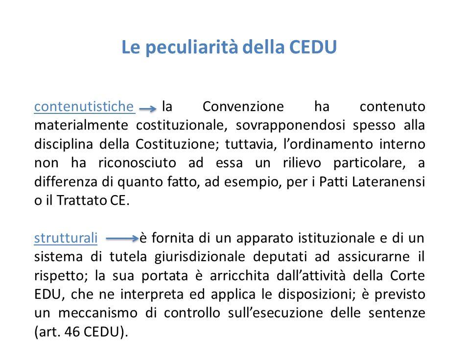 Le peculiarità della CEDU