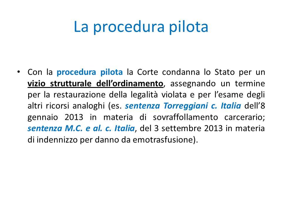 La procedura pilota