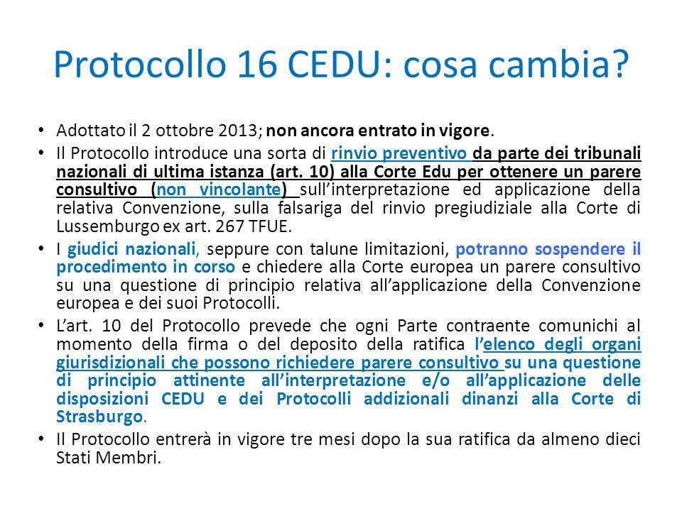 Protocollo 16 CEDU: cosa cambia