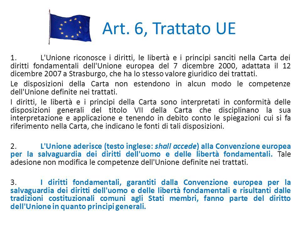 Art. 6, Trattato UE