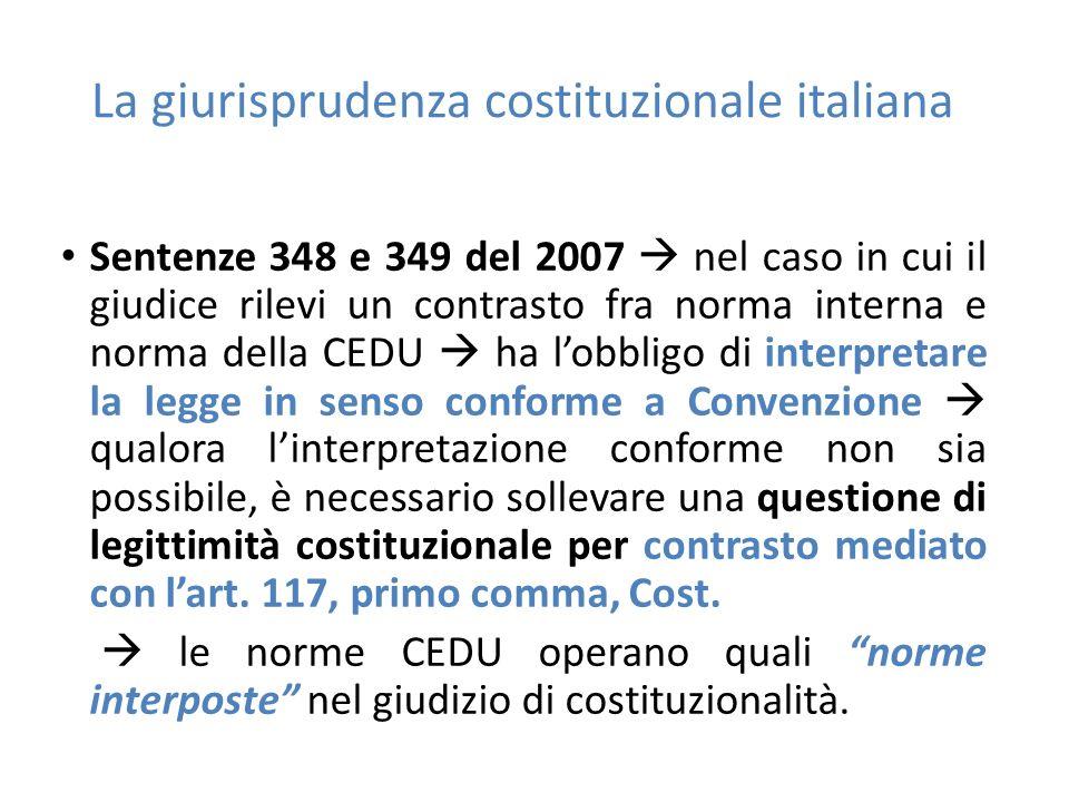 La giurisprudenza costituzionale italiana