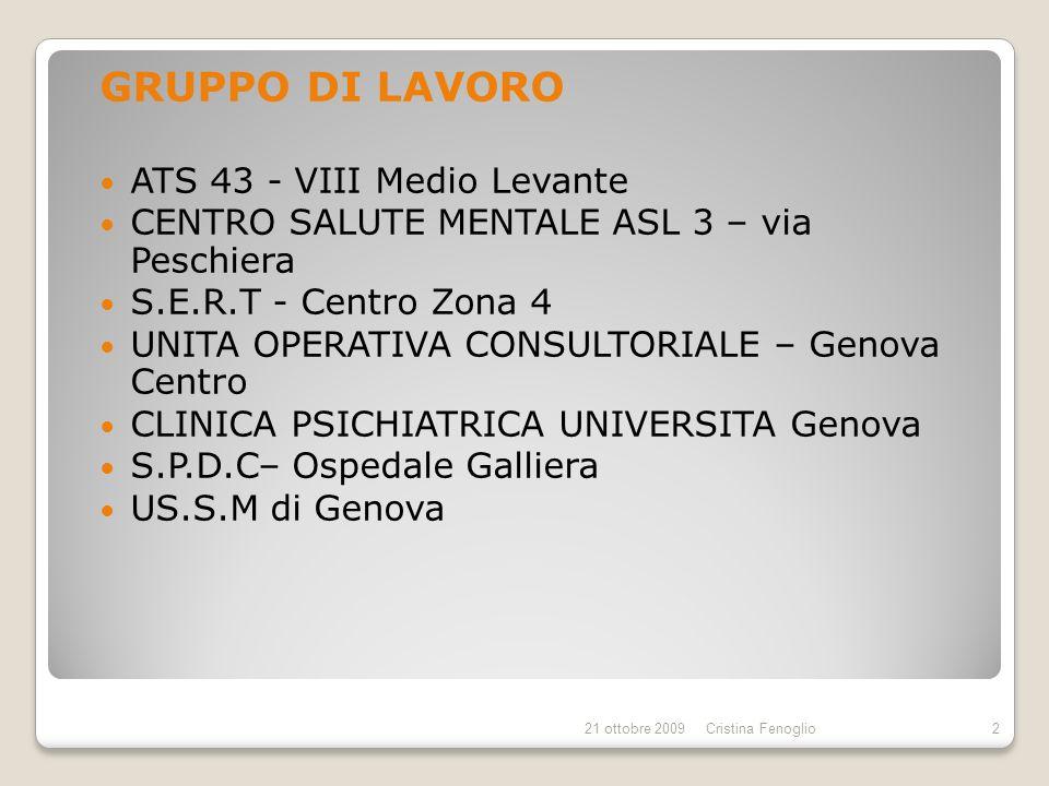 GRUPPO DI LAVORO ATS 43 - VIII Medio Levante