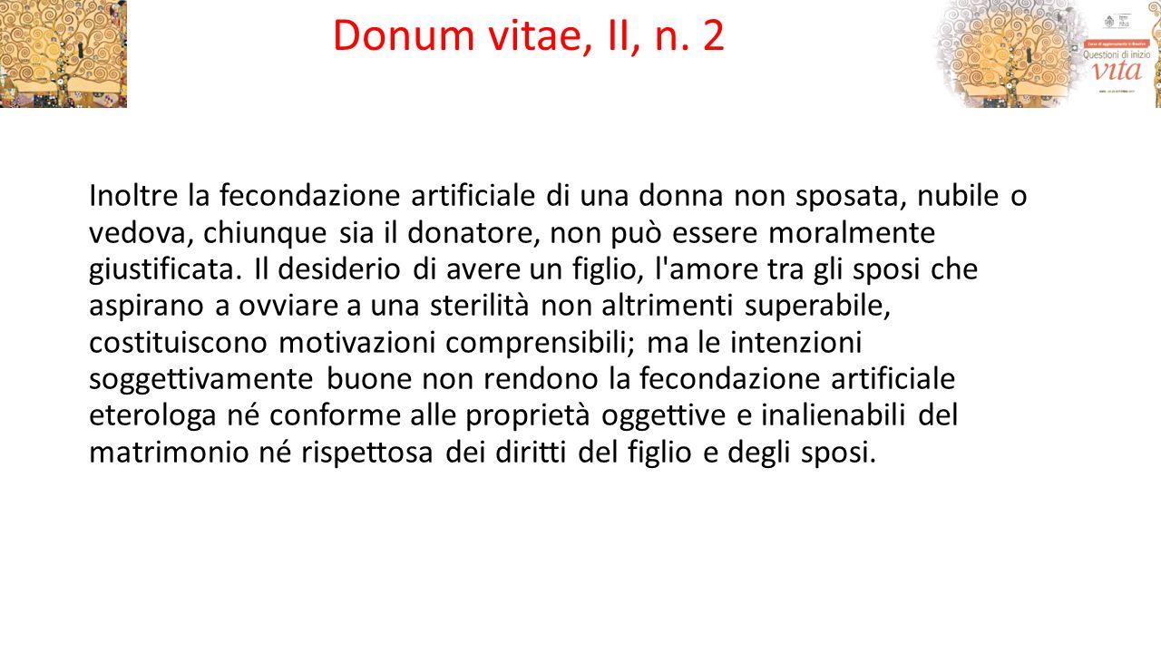 Donum vitae, II, n. 2