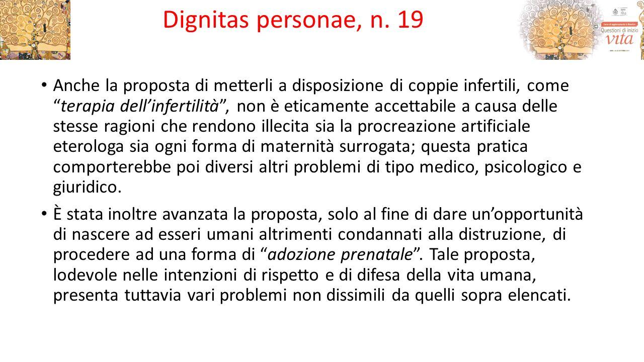 Dignitas personae, n. 19