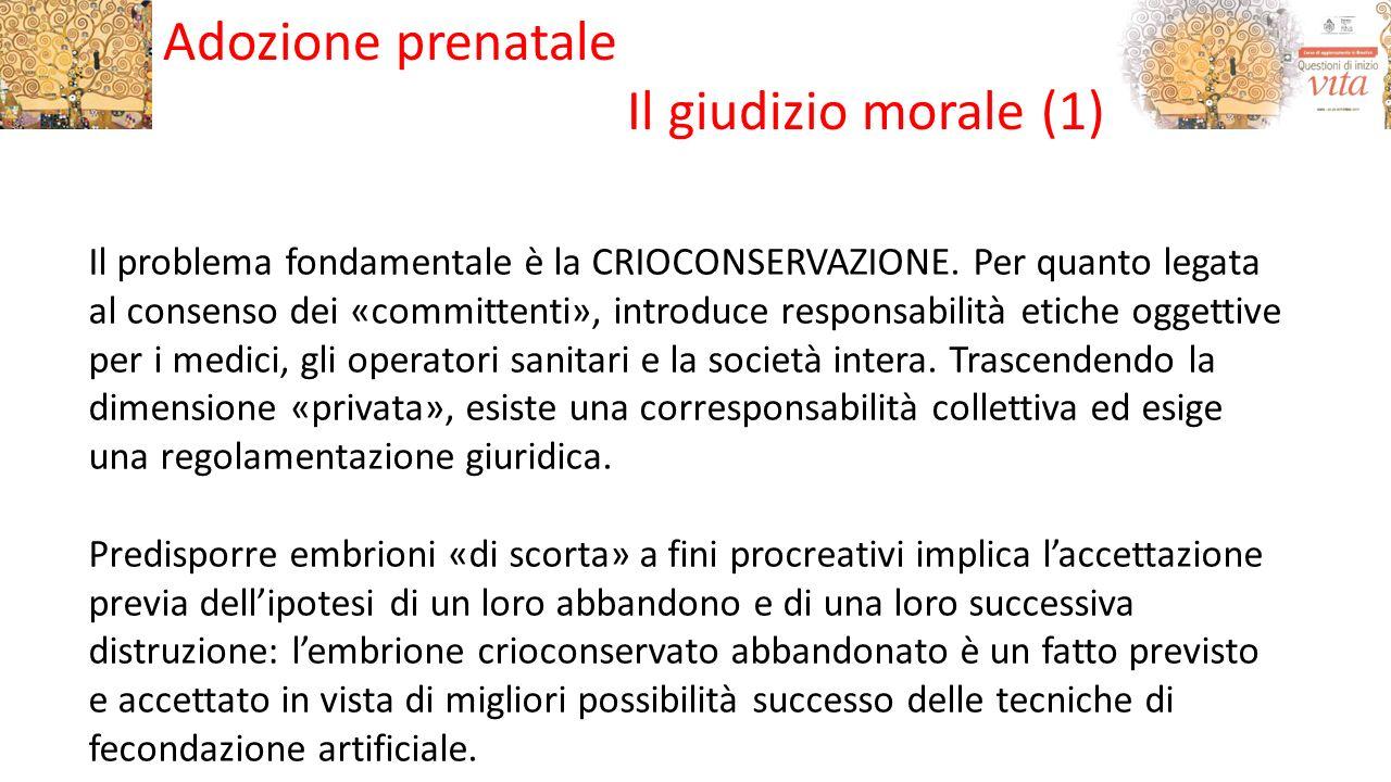Adozione prenatale Il giudizio morale (1)