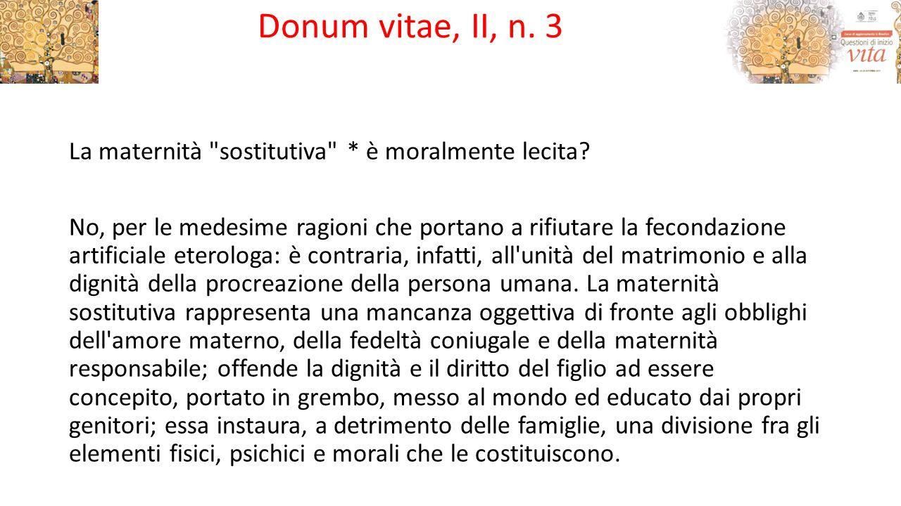 Donum vitae, II, n. 3