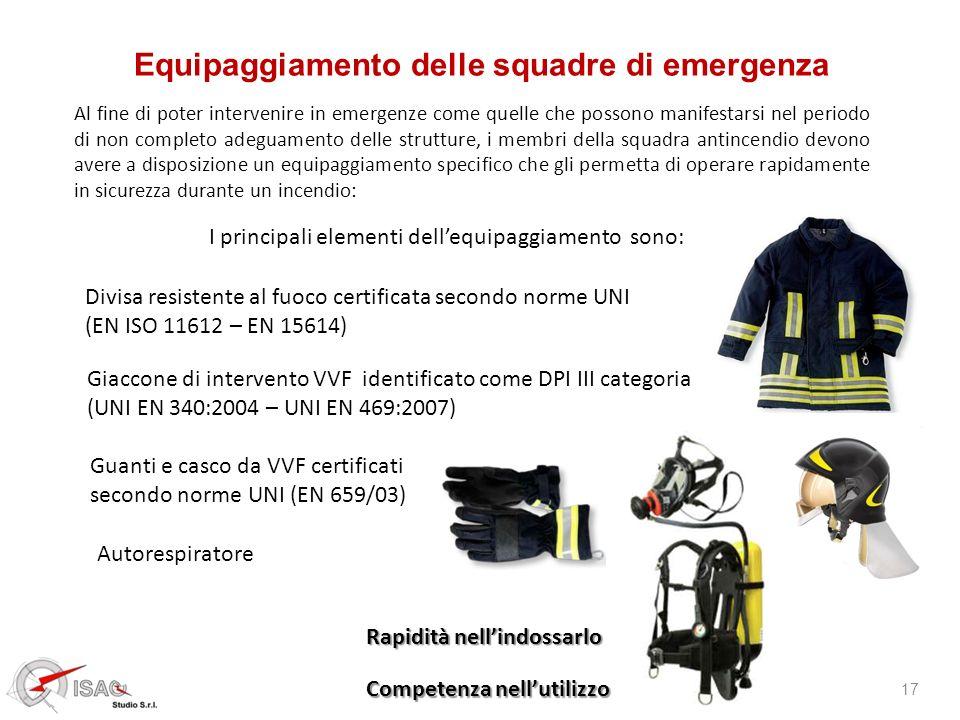 Equipaggiamento delle squadre di emergenza